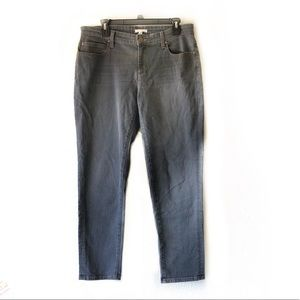Eileen Fisher Gray Straight Leg Jeans Size 10